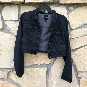 Highway Jeans Black Button Jean Jacket